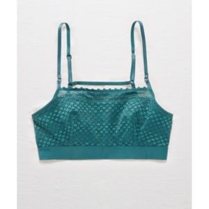 Aerie Emerald Lace Scoop Bralette